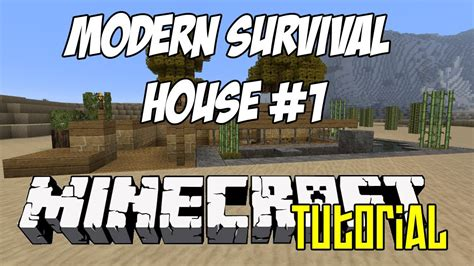 Free Blueprints For Houses Minecraft Tutorial Hd Modern Survival House 1 Youtube