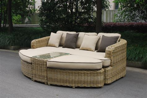Outdoor Furniture Daybed Rattan Garden Furniture Outdoor Daybed Sofa Set Ebay
