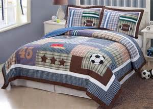 Twin Comforter Sets For Boys Sports Football Field Soccer Boys Blue Twin Full Queen