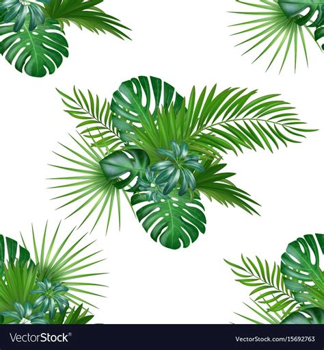 plant background tropical background with jungle plants seamless vector image