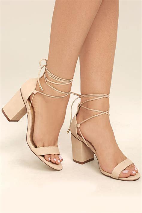 Heels Beige chic beige heels lace up heels vegan leather heels