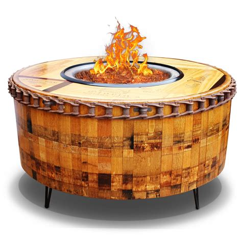 moderna wine barrel pit table