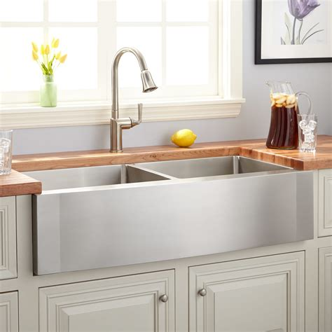 stainless steel farmhouse sink 36 quot optimum stainless steel farmhouse sink wave apron kitchen