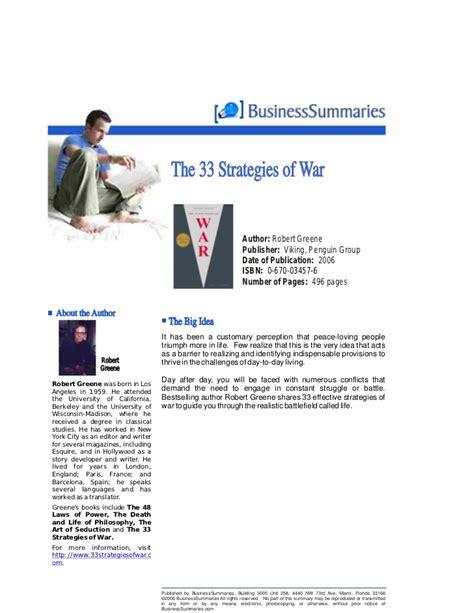 the 33 strategies of 33 strategies of war