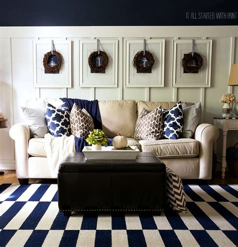 navy home decor navy blue and brown living room ideas modern house