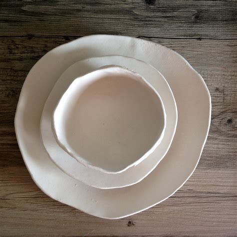 Handmade Tableware - ceramic dinnerware set handmade ceramics white dinnerware