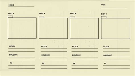 6 Animation Storyboard Templates Free Premium Templates Animation Storyboard Template