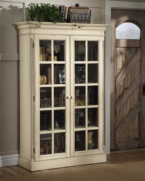 Library Cabinets With Glass Doors Furniture Gt Entertainment Furniture Gt Media Cabinet Gt Antique White Media Cabinet
