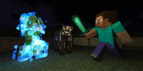 imagenes con movimiento de minecraft steve a cow and a charged creeper by lockrikard on deviantart