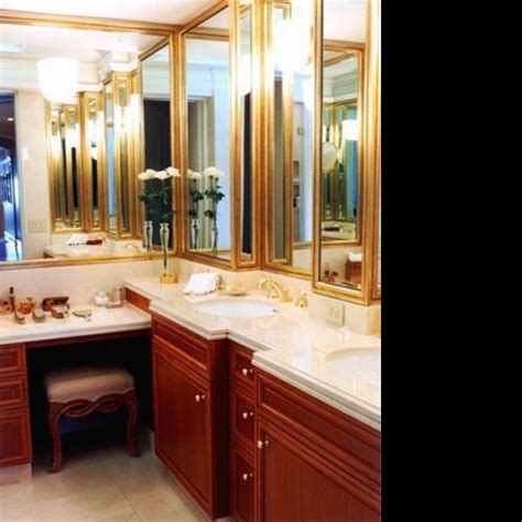 l shaped vanity bathroom vanities pinterest