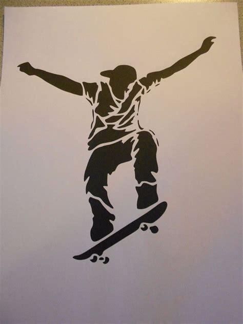 schablone skateboarder auf  eur  stencil