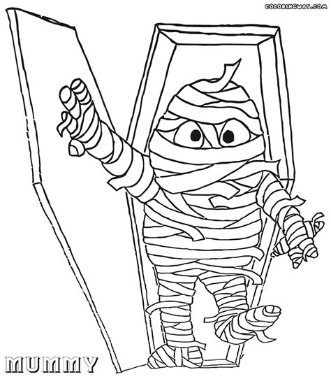 mummy template sarcophagus coloring page coloring pages