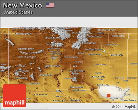 united states map new mexico free physical panoramic map of new mexico