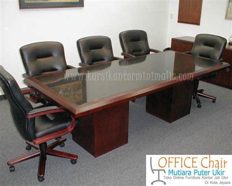 Meja Rapat Kayu Jati set meja kursi rapat kayu model unik jual kursi kantor