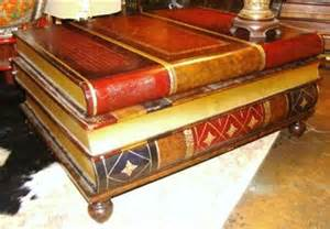 Stacked Book Coffee Table Maitland Smith Leatherbound Library Stacked Antique Books