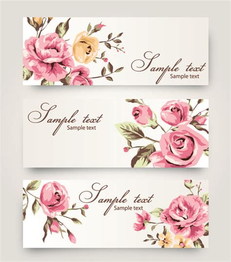 Banner With Flowers Design Vector Vector Banner Free Download Flower Banner Template