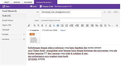 kunci sukses tutorial lamaran kerja  email