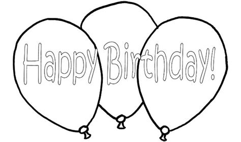 happy birthday balloons flying coloring pages coloring