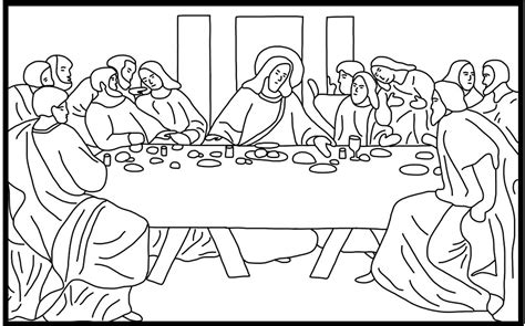 The Last Supper Coloring Pages Printable free coloring pages of lent last supper
