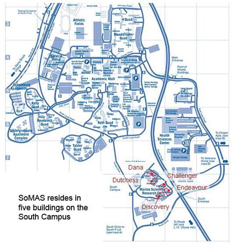stony brook map directions somas