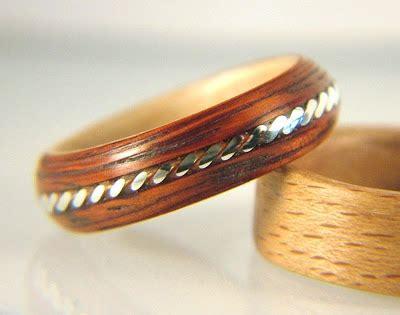 Recycled Wooden Wedding Ring From Gustav Reyes by Penguin Fish Artist Gustav Reyes Simply Wood Rings