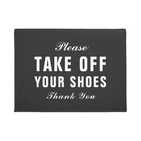 Take Your Shoes Doormat by Take Your Shoes Doormat Zazzle