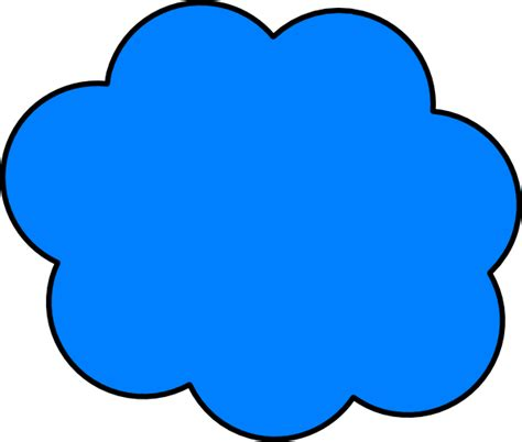 cloud clipart blue cloud clip at clker vector clip