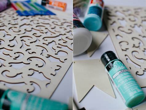 diy projects with acrylic paint crafting diy earring holder and diy wood bunting still