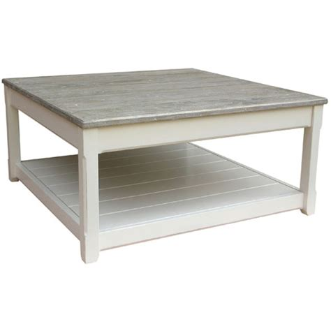 Square White Coffee Table Cottage Square Coffee Table