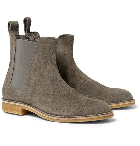 Chelsea Boots Jual | bottega veneta suede chelsea boots in gray for men lyst