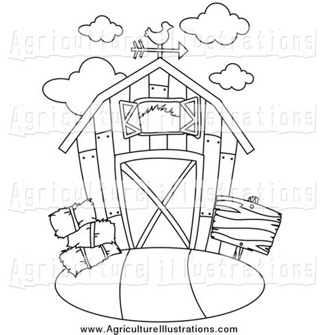 Agriculture Clipart Of A Black And White Barn By Bnp Design Studio 677 Wind Vane Template