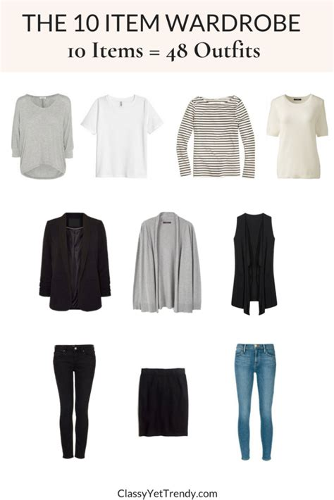 10 item wardrobe the 10 item wardrobe makes 48 outfits tw 132 classy