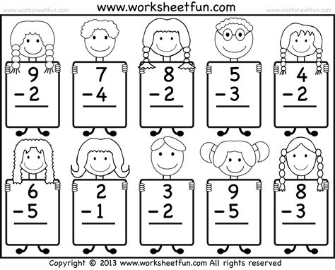 Free Subtraction Worksheets by Free Coloring Pages Of Kindergarten Subtraction
