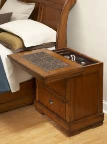 Hidden Compartment Nightstand Secret Compartment Nightstand Sliding Top Secret