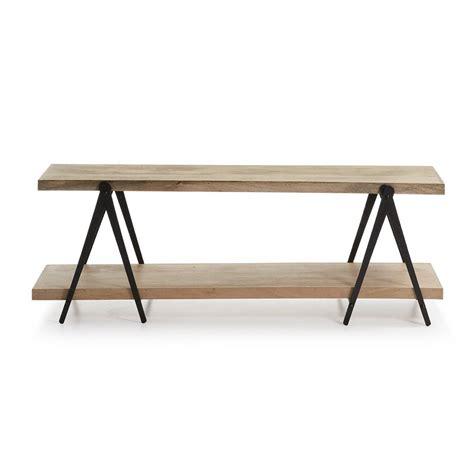 tv meubel van hout open tv meubel van hout en staal laforma nagrom lumz nl