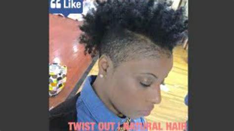 ahirt shaved sides naturalvhairstyle twist out on natural short hair shaved sides edition