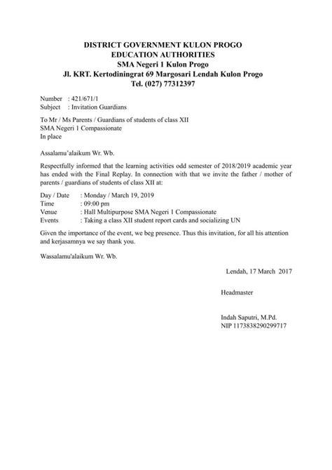 Contoh Bentuk Undangan Resmi by 15 Contoh Surat Resmi Cara Membuat Undangan Pemerintah