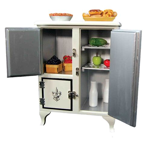 The Queen S Treasures 1930 S American Style Vintage Icebox 18 Inch Doll Kitchen Furniture