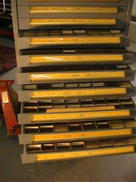 Equipto 18 drawer storage cabinet stanley vidmar lista