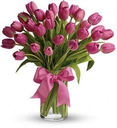 La Tulip Precious precious pink tulips bouquet tulip