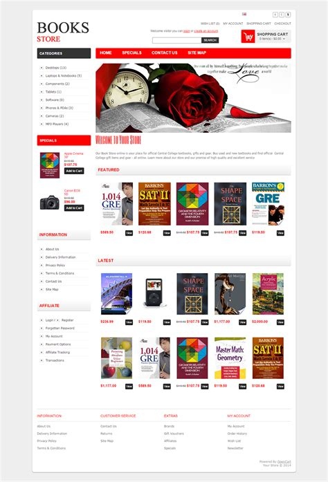 Bookstore Open Cart Website Templates Themes Free Premium Free Premium Templates Bookstore Website Template