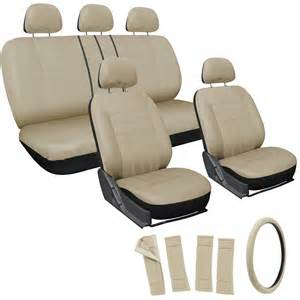 Car Seat Covers At 17pc Set Solid All Beige Car Seat Covers Steering Wheel
