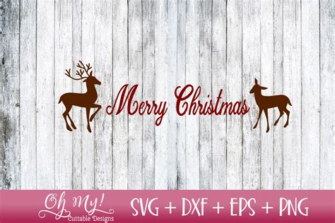 merry christmas reindeer svg dxf eps png