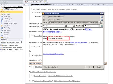 approval workflow in sharepoint 2010 using sharepoint designer sharepoint 2010 approval workflow email date issue