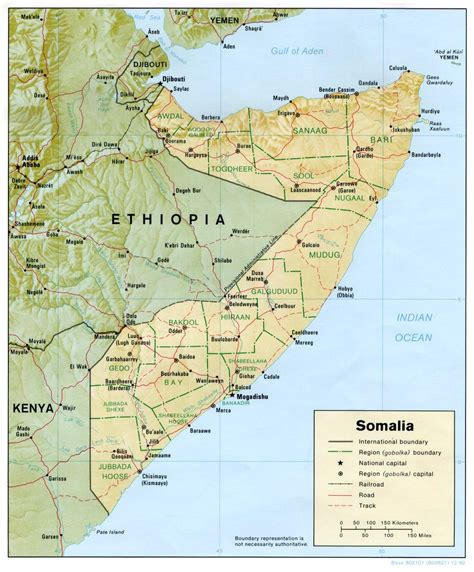 map of somalia nationmaster maps of somalia 16 in total