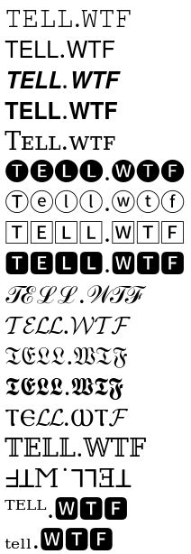 Cool Text Letters