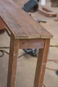 How To Build A Sofa Table Sofa Table Made From Pallets 99 Pallets