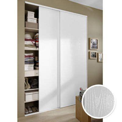 Pack 2 portes de placard blanc veiné 250 x 150 cm   CASTORAMA