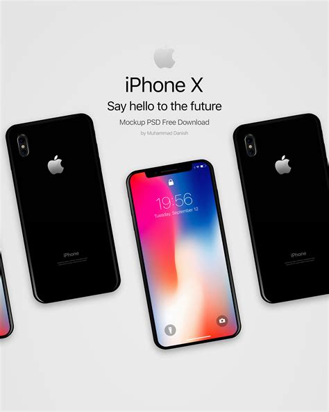 design poster on iphone iphone x free mockups