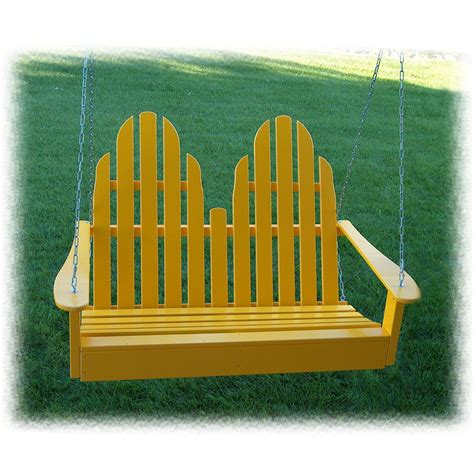 leisure swing prairie leisure 174 adirondack porch swing 125091 patio